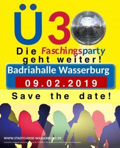 Ü30-Faschingsparty @ BADRIA-Halle Wasserburg am Inn | Wasserburg am Inn | Bayern | Deutschland